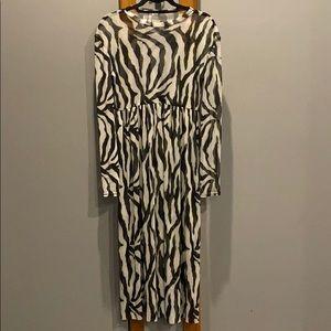 Collision by Asos sheer Zebra print maxi dress